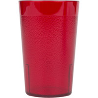 Cambro 1200P2156 Colorware 12.6 oz. Ruby Red Plastic Tumbler - 24/Case
