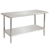 14 Gauge Advance Tabco Premium Series SS-307 30 inch x 84 inch  Stainless Steel Commercial Work Table with Undershelf