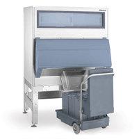 Follett DEV1010SG-48-125 48 inch Ice Storage Bin with 125 lb. Ice Cart - 1000 lb.