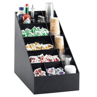 Cal-Mil 2047 Classic Black Cup / Lid / Condiment Organizer - 14 inch x 22 1/2 inch x 20 1/4 inch