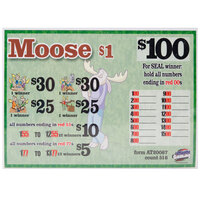 Moose 1 Window Seal Pull Tab Tickets - 516 Tickets Per Deal - Total Payout $395