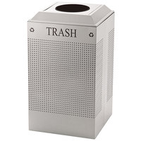 Rubbermaid DCR24T Silhouettes Stainless Steel Designer Recycling Receptacle - Trash 29 Gallon (FGDCR24TSS)