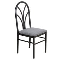 Lancaster Table & Seating Gray 4 Spoke Restaurant Dining Room Chair with 1 3/4 inch Padded Seat