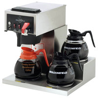 Bloomfield 8574D3F Koffee King 3 Warmer Right Stepped Automatic Coffee Brewer - 115/230V