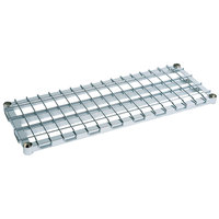 Metro 1848DRS 48 inch x 18 inch Stainless Steel Heavy Duty Dunnage Shelf with Wire Mat 1300 lb. Capacity
