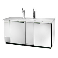 Beverage Air DD58-1-S Stainless Steel Beer Dispenser 59 inch - 3 Keg Kegerator