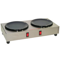 Grindmaster BW-2 Double Burner Decanter Warmer Station - 120V