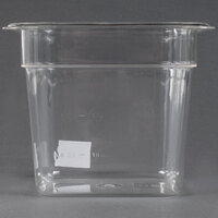 1/6 Size 6 inch Deep Clear Polycarbonate Food Pan
