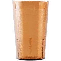 Cambro 950P2153 Colorware 9.8 oz. Amber Plastic Tumbler - 24/Case