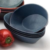 HS Inc. HS1011 9 inch x 5 1/2 inch x 2 inch Blueberry Polyethylene Oval Basket - 24 / Case