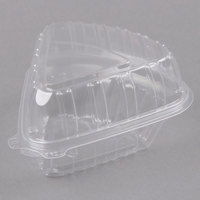 Dart Showtime C54HT1 6 inch x 6 inch x 3 inch Clear Hinged Lid Pie Wedge Container - 250/Case