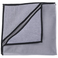 Unger MN40U Ninja MicroWipe 16 inch x 16 inch Gray and Black Premium Microfiber Cleaning Cloth