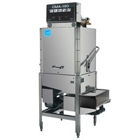CMA Dishmachines CMA-180B-S Single Rack High Temperature Straight Dishwasher with Booster Heater - 208/240V, 1 Phase
