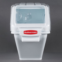 Rubbermaid FG9G5700WHT 6.3 Gallon ProSave Shelf Ingredient Storage Bin with 2 Cup Scoop