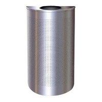Rubbermaid SH12E Silhouettes Silver Metallic Steel Designer Half Round Waste Receptacle -12 Gallon (FGSH12EPL)