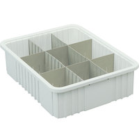 Long Metro MDL92035N Gray Tote Box Divider - 17 inch x 4 inch