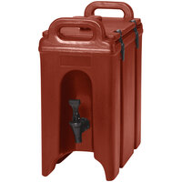 Cambro 250LCD402 Camtainer 2.5 Gallon Brick Red Insulated Beverage Dispenser
