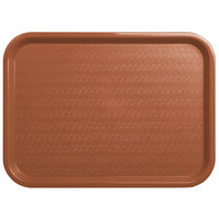Carlisle CT121631 Customizable Cafe 12 inch x 16 inch Light Brown Standard Plastic Fast Food Tray - 24/Case
