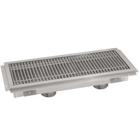 Advance Tabco FFTG-2496 24 inch x 96 inch Floor Trough with Fiberglass Grating