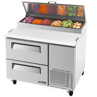 Turbo Air TPR-44SD-D2 44 inch Two Drawer Pizza Prep Table