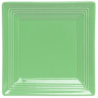 Tuxton Concentrix CTH-0845 Cilantro 8 1/2 inch Square China Plate 12/Case