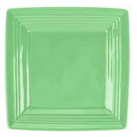 Tuxton CTH-0845 Concentrix 8 1/2 inch Cilantro Square China Plate - 12/Case