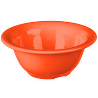 Carlisle 3303852 Sierrus 10 oz. 5 3/8 inch Sunset Orange Rimmed Melamine Nappie Bowl - 24/Case