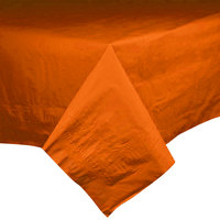 Hoffmaster 220608 54 inch x 108 inch Cellutex Bittersweet Orange Tissue / Poly Paper Table Cover - 25/Case