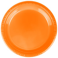 Creative Converting 28191021 9 inch Sunkissed Orange Plastic Dinner Plate - 20 / Pack