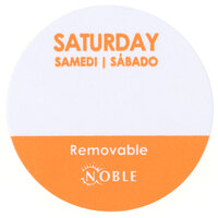 Noble Products Saturday 1 inch Removable Day of the Week Dot Label - 1000 / Roll