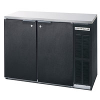 Beverage Air BB48Y-1-B-27 48 inch Back Bar Refrigerator with 2 Solid Doors and Stainless Steel Top - 115V