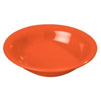 Carlisle 4303252 Durus 16 oz. Sunset Orange Melamine Rimmed Bowl - 24/Case