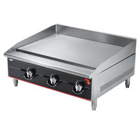 Vollrath 936GGM Cayenne 36 inch Heavy Duty Countertop Griddle with Manual Controls - 90,000 BTU
