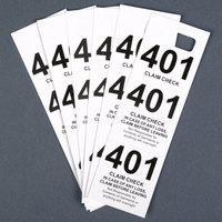 White 3 Part Paper Coat Room Check - 500 / Box