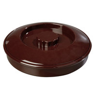 Carlisle 047001 7 1/4 inch Polycarbonate Brown Tortilla Server, Interlock Lid - 24/Case