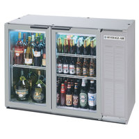 Beverage Air BB48GY-1-SS-LED-WINE 48 inch SS Back Bar Wine Series Refrigerator - Narrow Depth, 2 Glass Doors
