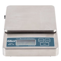 Edlund EDL-10 Rechargeable 10 lb. Digital Portion Control Scale with 6 inch x 6 3/4 inch Platform