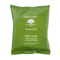 Basic Earth Botanicals Hotel and Motel Wrapped Bath Soap 1.5 oz. Bar   - 300/Case