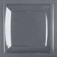 WNA Comet MS10CL 9 1/4 inch Clear Square Milan Plastic Dinner Plate - 120 / Case