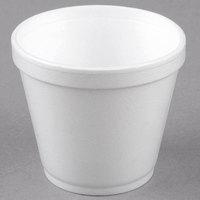 Dart Solo 8SJ12 8 oz. Customizable Squat White Foam Food Bowl - 1000/Case