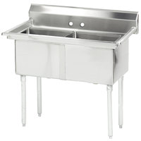 Advance Tabco FE-2-1812 Stainless Steel 2 Compartment Commercial Sink - 41 inch