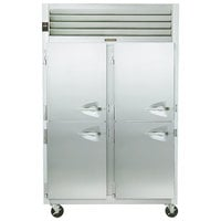 Traulsen G24303 Solid Half Door 2 Section Hot Food Holding Cabinet with Left Hinged Doors