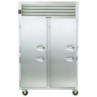 Traulsen G24303 Solid Half Door 2 Section Hot Food Holding Cabinet with Left Hinged Doors