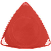 CAC TRG-21RED Festiware Triangle Flat Plate 11 1/2 inch - Red - 12/Case