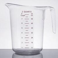 2 Qt. Clear Plastic Measuring Cup