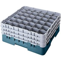 Cambro 36S800414 Teal Camrack 36 Compartment 8 1/2 inch Glass Rack
