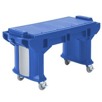 Cambro VBRT5186 Navy Blue 5' Versa Work Table with Standard Casters