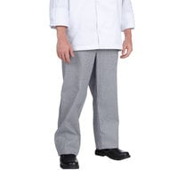 Chef Revival P034HT Size XS Houndstooth Chef Trousers - Poly-Cotton