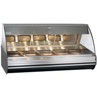 Alto-Shaam HN2-72/P S/S Stainless Steel Countertop Heated Display Case with Curved Glass - Self Service 72 inch