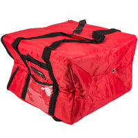 Rubbermaid FG9F3900RED ProServe 19 3/4 inch x 19 3/4 inch x 13 inch Red Insulated Large Nylon Pizza / Catering / Sandwich Delivery Bag